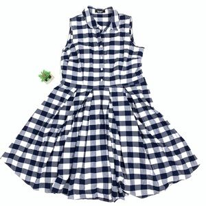 Nine West Blue Gingham Dress 🍷